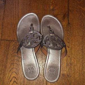 Tory Burch Silver/Metallic sandals. Used.